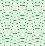 Wavy line green seamless pattern