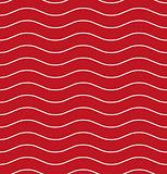 Wavy line red seamless pattern