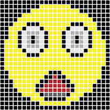 Surprised pixel emoticon