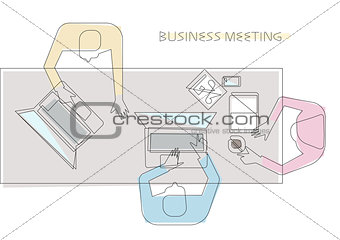 Business meeting concept