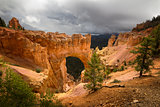 Dark Clouds Over Natural Bridge
