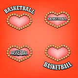 set heart of basketball