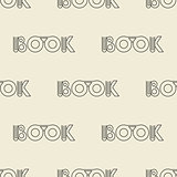 beige seamless pattern with  symbol of the book