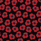 seamless pattern with poppy