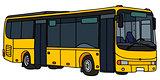 Yellow city bus