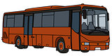 Red-brown bus