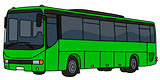 Light green bus