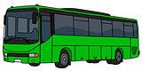 Light green bus
