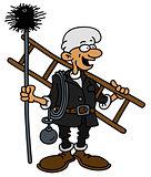 Funny smokestack sweeper