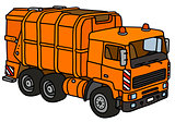 Orange dustcart