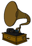Vintage horn gramophone