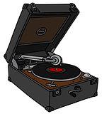Vintage portable gramophone