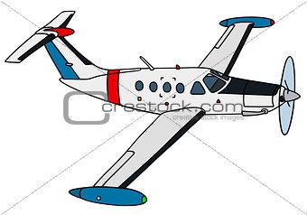 Small propeller watch aircraft
