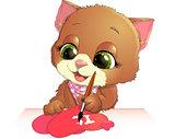 cute kitten draws