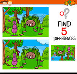 kindergarten task of differences
