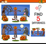 halloween differences task