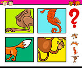 preschool task with animals