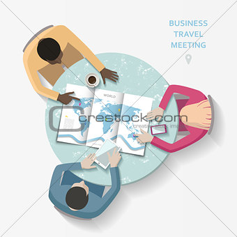 Business travel meeting concept