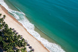 Aerial view of Nha Trang city beach