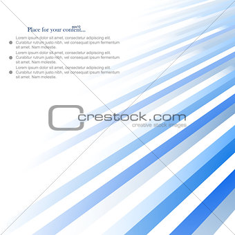 Abstract background, blue lines design