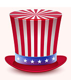 Presidents Day. Washingtons Birthday. Uncle Sams hat