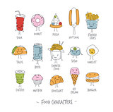 Food characters color