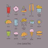 Food characters gray