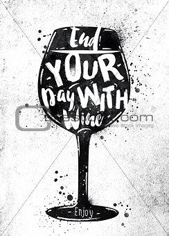 Poster wine