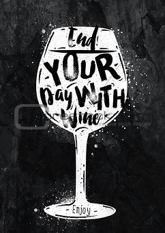 Poster wine chalk