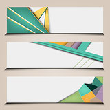 polygonal abstract banners set