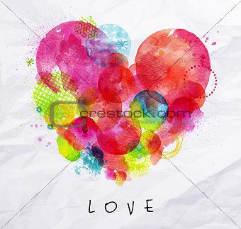 Watercolor poster love