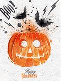 Pumpkin halloween poster