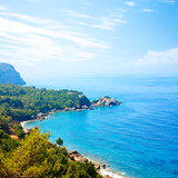 Summer View of Adriatic Coastline