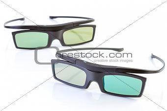 3d glasses on white