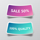 Abstract vector labels