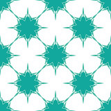 Snowflakes background in blue-green colors