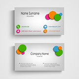 Business card with colored circles template