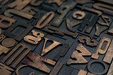 Letterpress alphabet