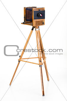 Old Wooden Photocamera