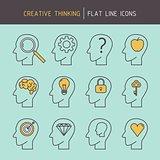 Flat line creative thinking