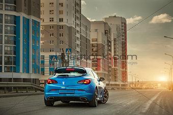City car blue