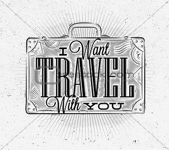 Tourist poster suitcase