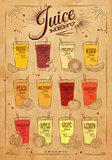 Poster juice menu kraft
