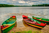 Boats by the lake, Trakai, Lithuania