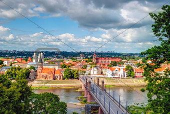 Skyline of Kaunas, Lithuania