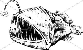Fish-dog, fish, angler or sea devil