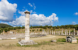 honor column in Ancient Messina,  Greece