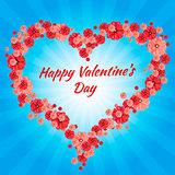 Greeting Card Happy Valentine s Day, hearts,