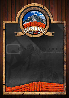 Blackboard for Climbing Sport