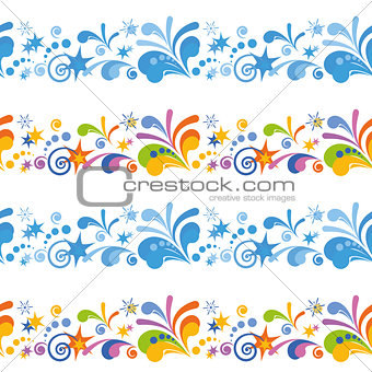 Abstract Colorful Seamless Background